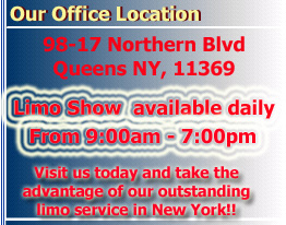 Queens NY Limousine service location, NY Limo Location